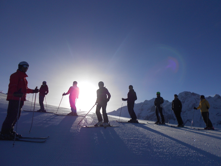 Singlereis Skihuttentocht Italië ALS EERSTE OP DE PISTE!